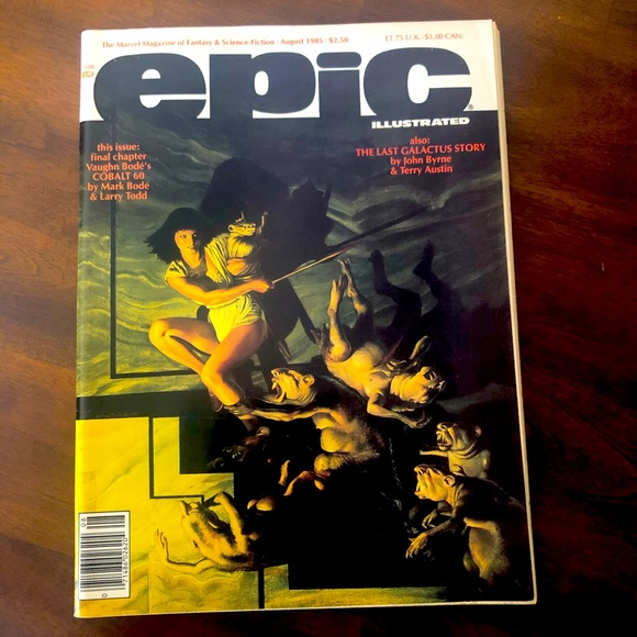 Aug 85 Marvel Magazine Epic Illustrated Comic